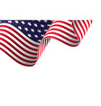 waving american flag in wind vector image