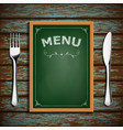 wooden board with menu vector image vector image