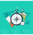 World travel concept background Flat icons vector image vector image