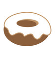 donut with white vanilla cream icon vector image