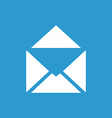 mail icon white on the blue background vector image