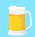 beer mug isolated on a blue vector image