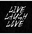 Laugh live love vector image