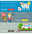 Farm Organic Banners vector image