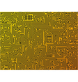 abstract circuit board background vector image vector image