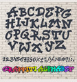 alphabet graffity alphabetical font abc by vector image vector image
