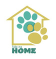 animal shelter or pet shop isolated icon home and vector image vector image