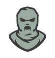 balaclava zombie mask cartoon vector image