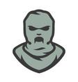 balaclava zombie mask cartoon vector image vector image