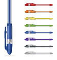 ballpoint pens set vector image vector image