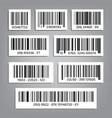 bar code set upc bar codes universal vector image