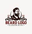 barber shop vintage design logo template vector image