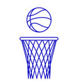 basketball ball and hoop vector image vector image