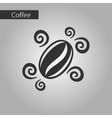black and white style bean coffee logo vector image vector image