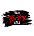 Black friday sale lettering on a brush stroke