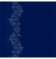 Blue silver floral vintage background vector image vector image