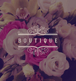 boutique ornamental logo vector image vector image