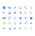 business document icons set vector image