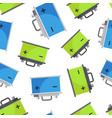 car battery seamless pattern background business vector image vector image