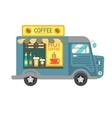 Cartoon style of a coffee van side vector image