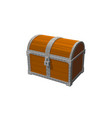 chest 3d object vintage icon isolated white vector image vector image