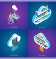 cloud services concepts set vector image vector image