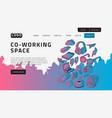 co working coworking space desktop landing page vector image