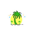 coconut tree logo mbe style vector image vector image