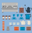 coffee making equipmentisolated objectscoffee vector image vector image