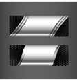 Collection of banner set metallic steel and vector image vector image