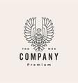 condor king monoline outline hipster vintage logo vector image vector image