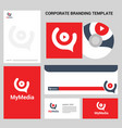 corporate business design with stationary vector image