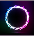 cosmic circle frame vector image
