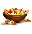 Cup With Nuts vector image vector image