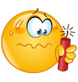 emoticon with dynamite vector image