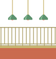 Empty Balcony With Ceiling Lamps vector image vector image