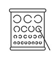 eye exam chart linear icon vector image