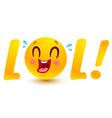 funny emoji in kawaii style vector image vector image