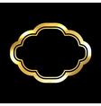 Gold frame simple golden black vector image