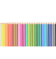 group colored pencils vector image