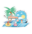 group of people in the pool icon vector image vector image