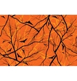 halloween orange background grunge image of forest vector image vector image