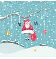 Hanging Santa vector image vector image