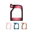 Hebrew font The Hebrew language The letter Mem vector image vector image