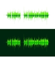 HQ sound waves Music waveform green vector image vector image