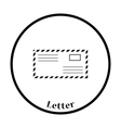 Icon of Letter vector image vector image