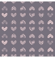 ink entangle heart seamless pattern vector image