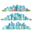 isolated cityscape city street abstract urban vector image vector image