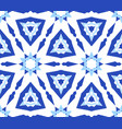 kaleidoscopic white blue flower pattern vector image vector image