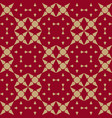 luxury gold and red chinese geometric background vector image